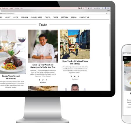 Metropolitan and 25A Magazine's Website Design