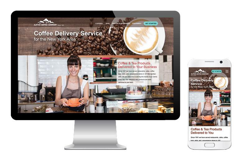 Visual Design for Coffee Delivery Service. Web Design for Coffee Service