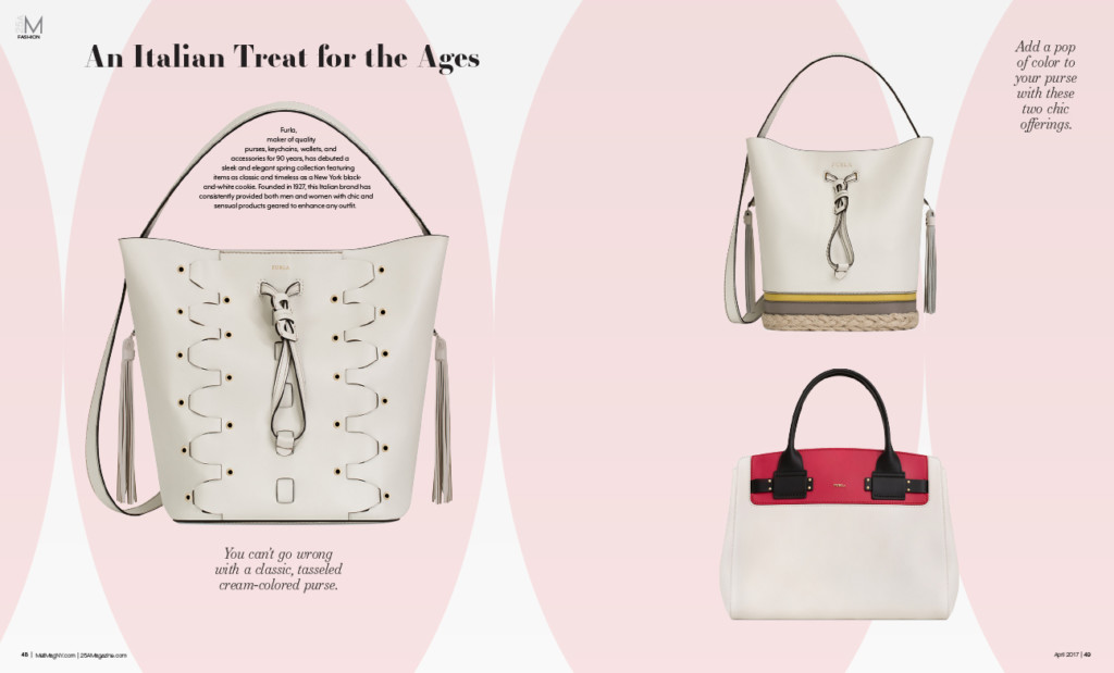 Furla, Handbags. Fashion Graphic Design